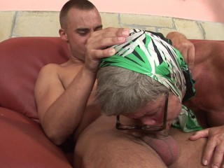 Big breasted granny gets plumbed firm