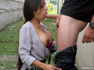 Latina Mummy rectal drilled in public