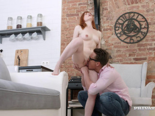 Redhead Teenager Lili Fox Drizzles and Has Firm Assfuck