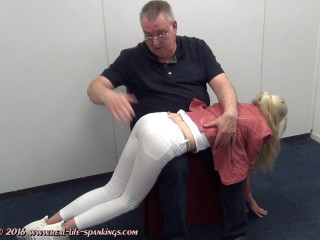 The very first spanking of Vanessa from Sweden