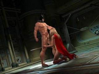 Batman Likes Meaty Boobed Super Sluts