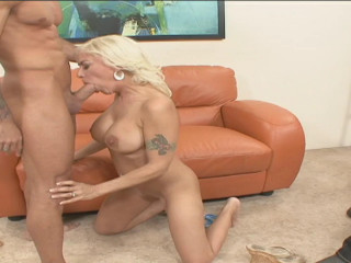 Gunn get pummeled in front of her ebony man