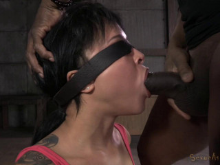 Bound beginner Mia Austin harshly plowed