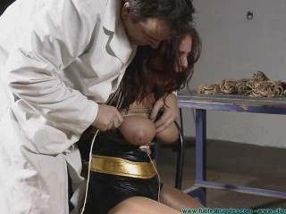 Superheroines Vengeance Gone Awry - Table Trussed and Titties Tied- BDSM, Humiliation, Torment HD 720p