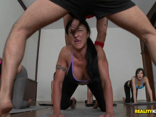 His Firm Fuck-stick Massaged Via A Duo Of Their Pretty Faces