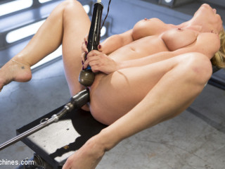 Rock hard Bodied Platinum-blonde Mummy has Earth Shattering Ejaculation from the Machines