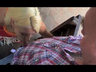 Old boy plumbing the huge-titted blondie