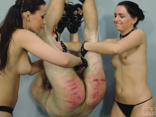 Dominatrix Anette & Woman Kittana - Tortured Gimp