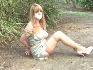 Corded and Gagged - Lorelei Hog-tied in her Glide in the Mud
