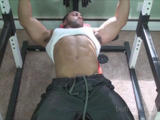 Bodybuilder Titan Gym Restrain bondage