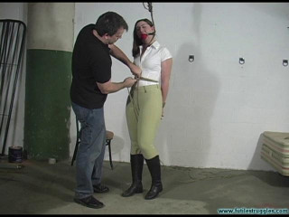 Equestrian Punished with Tight Restrain bondage and a Harder Gag 1part - Domination & submission