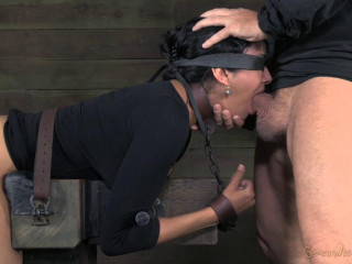 Takes Ten inches of BBC, rigorous restrain bondage and brutish deep-throating