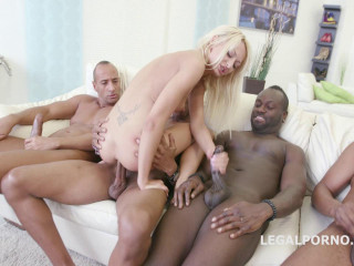 Black Busters 5 on 1 Lo la Glisten bi-racial Double penetration Dap Gapes Bony one gets Big black cock gang-fuck (2016)