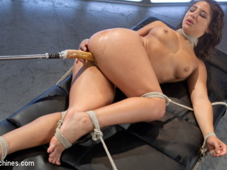 Big-Assed, Bombshell, Gets Tied-Up, and Robotically Blasted on Nailing Machines!!!