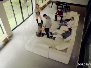 Cara And Lucy, Escorts DeLuxe, get drilled by 4 dudes