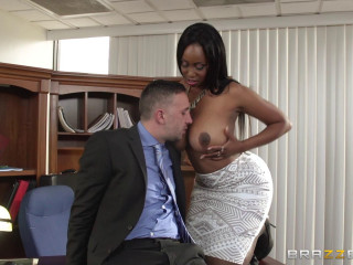 He Couldn't Resist The Secretary With A Huge Boobs