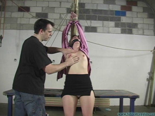Eden Legs Spread, Spanked, and Crotchroped 2part - BDSM, Humiliation, Torment HD 720p