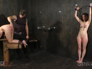 Sensualpain - Jan 08, 2017 - Tandem slave Bashing - Emma, Abigail Dupree, Tormentor James