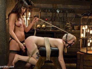 Ella Nova disciplined in Dana DeArmond's dungeon!