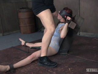 Stephie Staar is trussed on a vibrator, while being violently face fucked and deep throated!