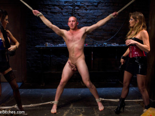 Legal yr old slaveboy chewed up and spit out by 2 Super-hot femdom female Bitches!