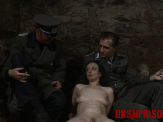 BDSMPrison - Spy Nadja Suffers Cigarette Play in her Interrogation