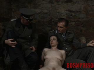 BDSMPrison - Spy Nadja Suffers Cigarette Play in her Interrogation