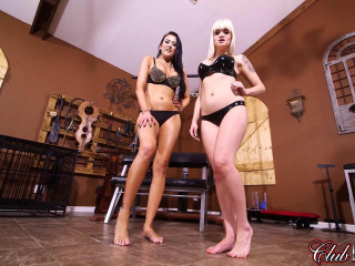 Dahila Rain and Alexis Grace - Fucktoy for Two Sadomasochists