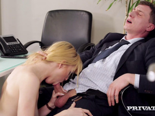 Luxurious Secretary Anny Aurora Gets Used and Manhandled By Her Chief HD