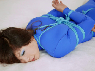 Blue Catsuit Roped