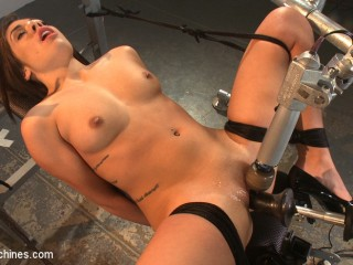 Ring the Alarm: Hot, fresh 18 yr old tied and machine pummeled