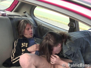 Public Sex Sim3OnCar