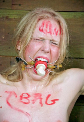 Blond beast in hot BDSM