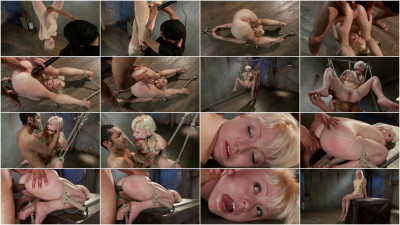 Cute Young Blonde Overwhelmed with Bondage and Cock