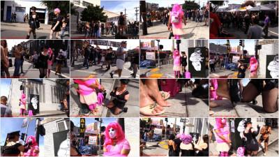 Femdom and Strapon Folsom Street Fair Public Humiliation - Crossdressing Leash Laws - San Francisco FemDom