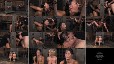 Two Well Used Barn Sluts Restrained In Strict Bondage, Epic London River And Darling Tag Team