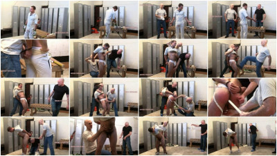 Guy10-l - Restrained, ballbusting and stomach punching