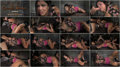 Tattooed AVN winner Bonnie Rotten tied up with brutal gagging messy deepthroat on huge cock!