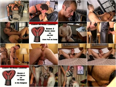 vid load muscular - (Cobra Studios - Cobra Strikes - Leather)