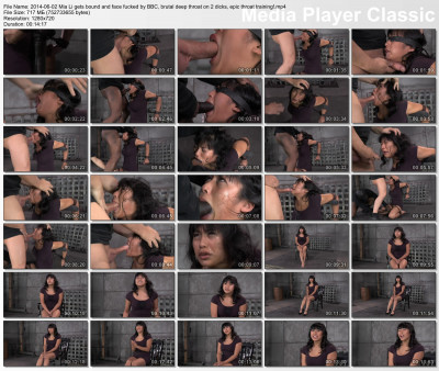 bdsm Sexy Mia Li gets bound and face fucked by BBC, brutal deep throat on 2 dicks
