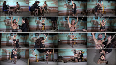 Super torture and bondage for beautiful blonde girl