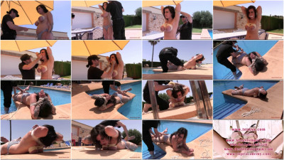 Toaxxx - Extreme Breast Bondage in the Sun