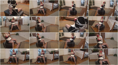 Bound and Gagged - Elbow-Bondage and Vibrator Orgasm for Roped Maid Lorelei