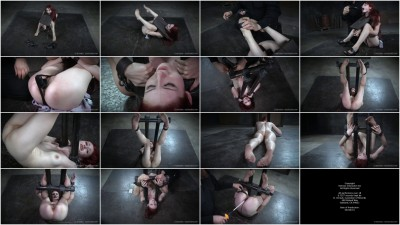 InfernalRestraints-Between the Bars(2015,Violet Monroe,Metal Bondage,mp4 720p, Weighted Nipple Clamps)