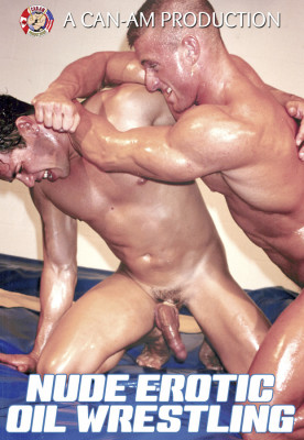 Nude Erotic Oil Wrestling Cover Front