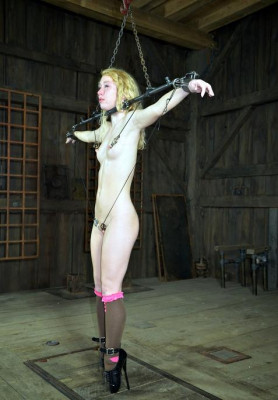 Modest blonde and hot BDSM sex