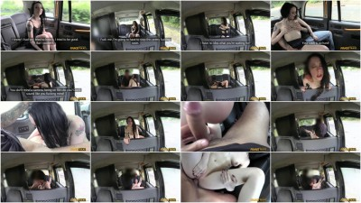 Filthy Tattooed British Cock Swallower Loves Fucking Taxi Drivers