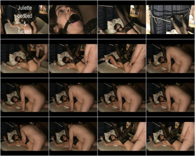 bdsm Juliette bed tied