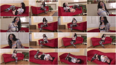 bdsm Bound and Gagged - Hogtied in Hose - Mary Jane Green