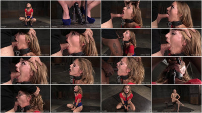 Smoking hot blonde Mona Wales shackled down facefucked vibrated drooling mess! (2015)